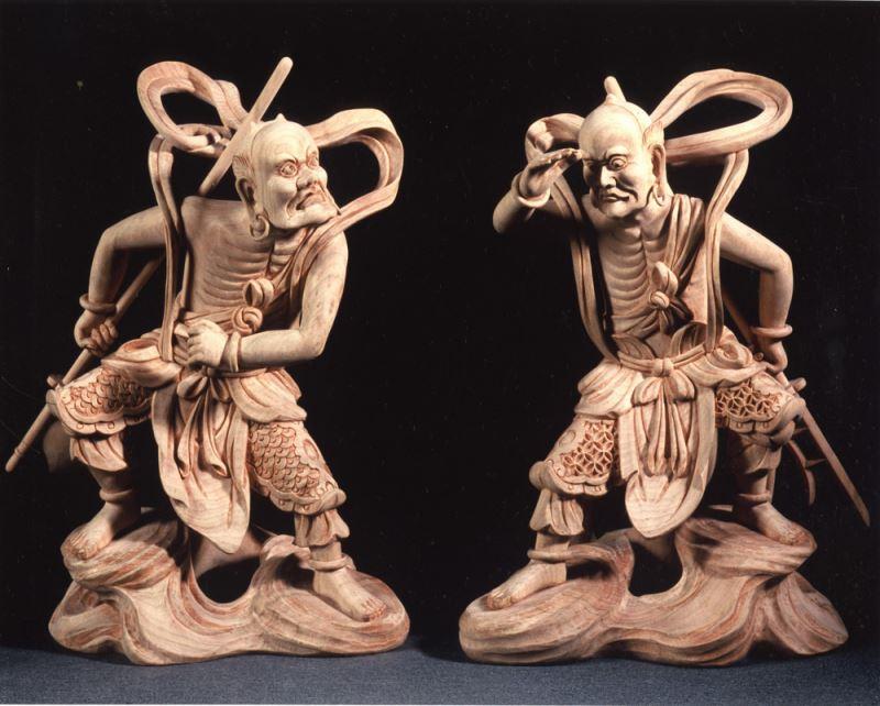 Shunfeng'er and Qianliyan, guardian spirits that accompany the goddess Matsu.