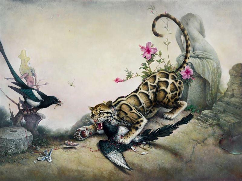 郭維國〈報喜圖〉2012 油彩、畫布 150×200 cm
