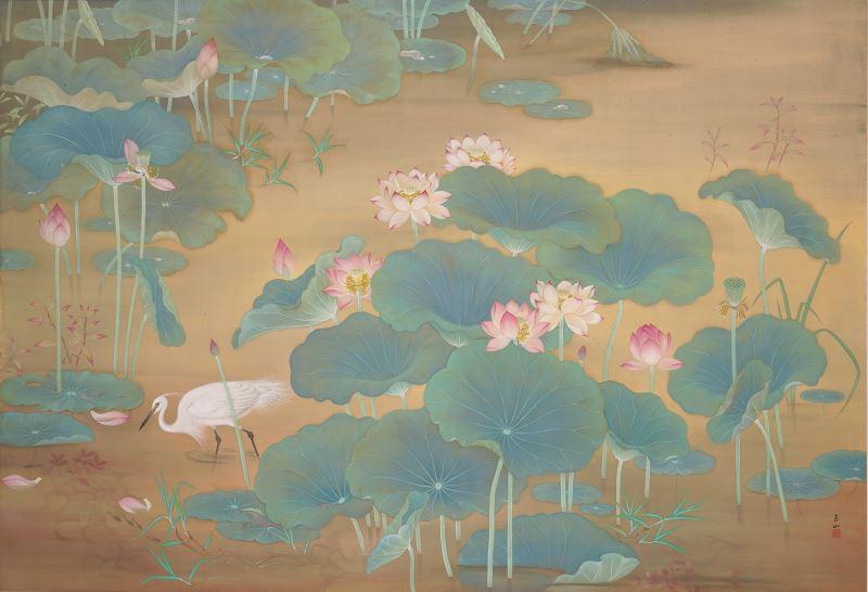 國美館攜手Google 提供百件以上典藏品線上瀏覽,包含典藏國寶林玉山〈蓮池〉
