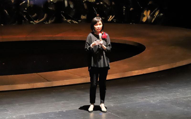 國立傳統藝術中心主任陳悅宜致詞。