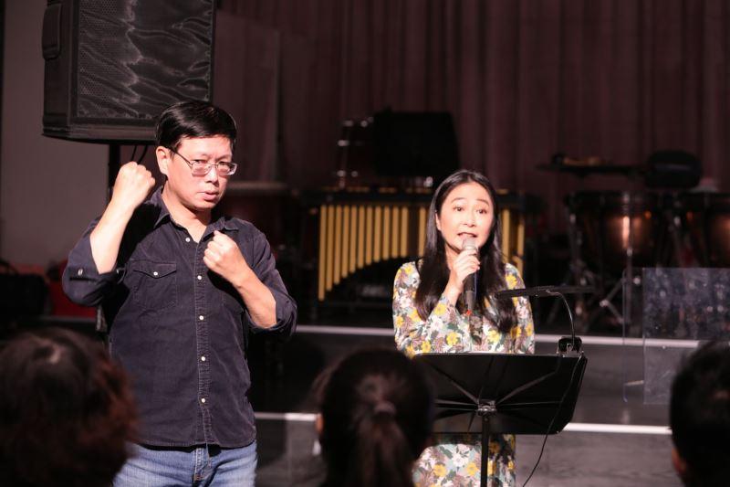圖1:臺灣國樂團「國樂頻道」系列音樂會提供手語翻譯,歡迎預約。