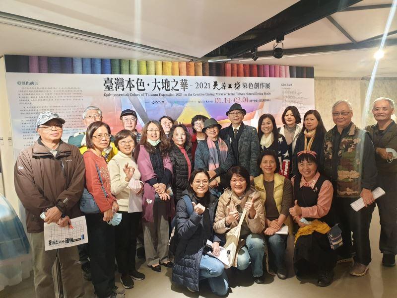 導覽志工伙伴於導覽培訓課程與陳景林老師及馬毓秀老師大合照