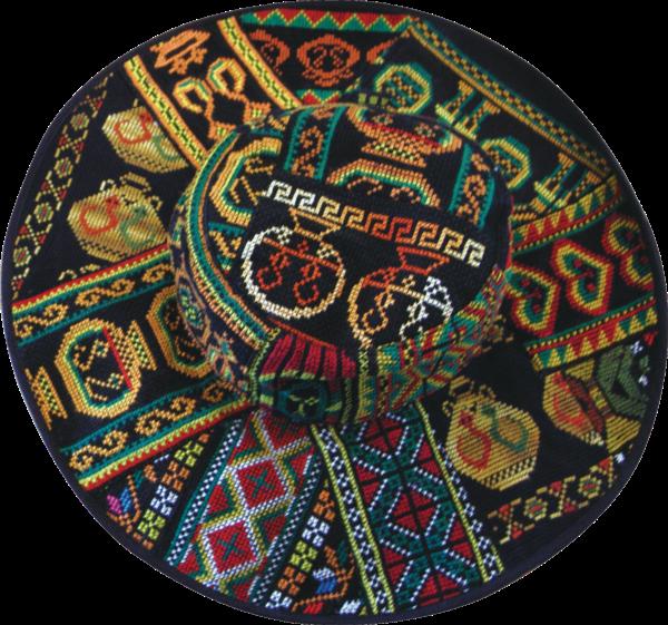 經典刺繡寬簷帽