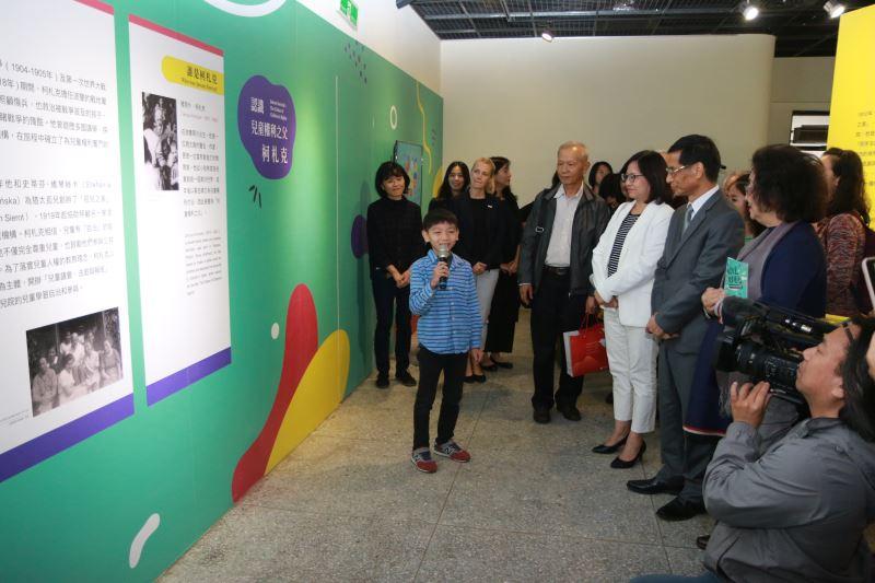 小小導覽員李杰叡解說兒童權利之父柯札克