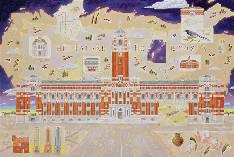 楊成愿〈總統府〉2001 油彩、畫布 130×194 cm