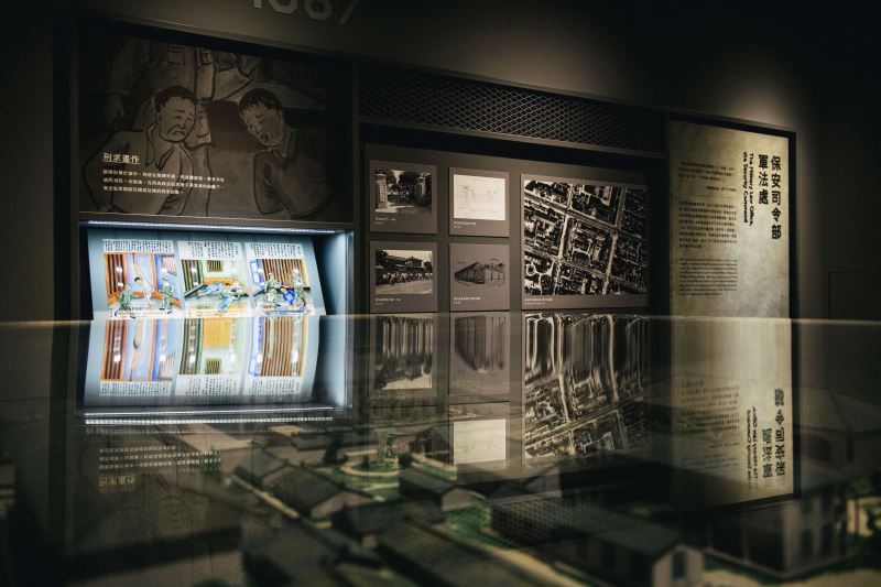 展場05 在青島東路看守所模型與刑求畫作中,認識軍事審判的空間場域_宜東文化提供