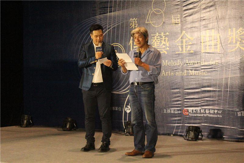 第28屆傳藝金曲獎評審委員戲曲表演類評審召集人邱坤良宣布戲曲表演類入圍名單