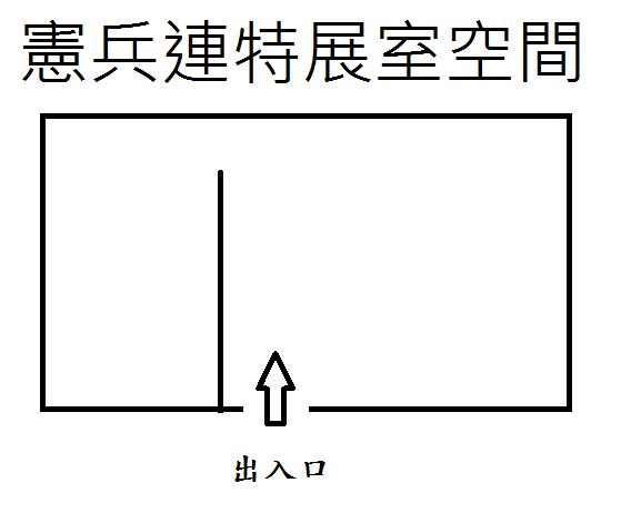 憲兵連特展室平面圖
