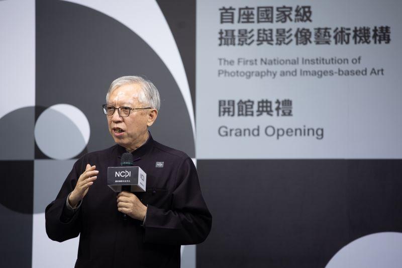 國立臺灣美術館長梁永斐於開館典禮上致詞
