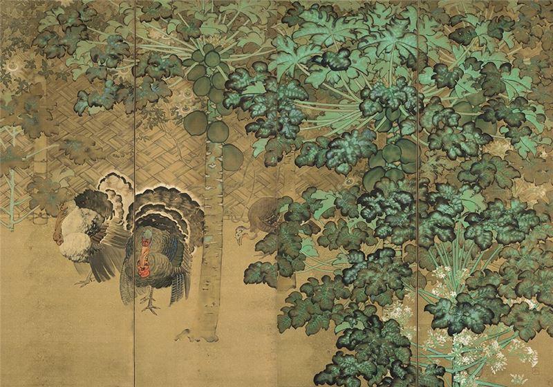 鄉原古統〈庭院〉1920  膠彩、絹本  162×230 cm
