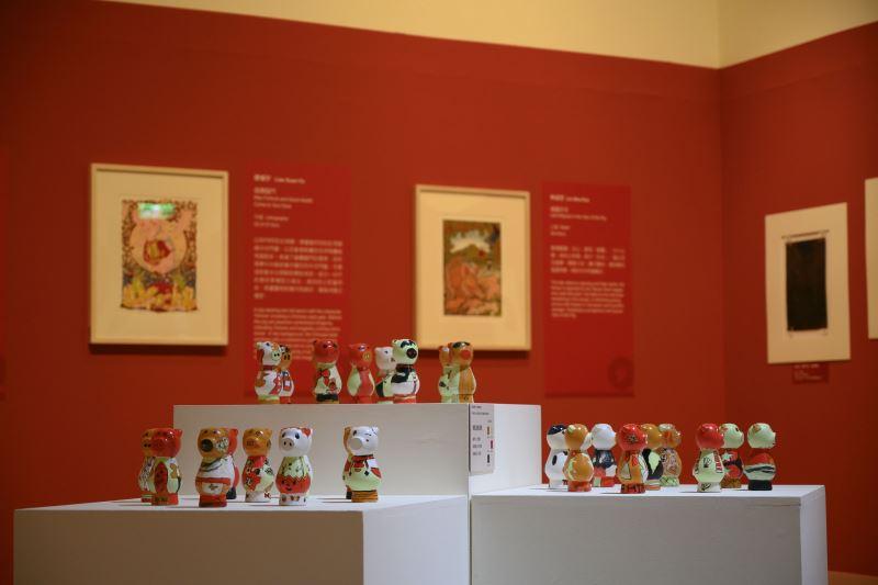 國美館「諸事大吉─豬年版印年畫」邀請學學文創「小感動生肖學童彩繪活動」作品參與展出