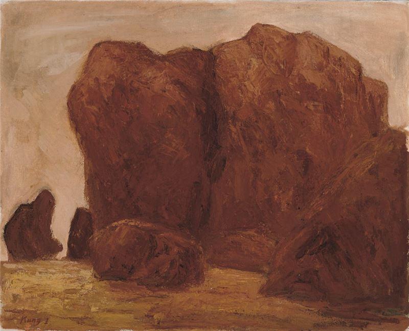 劉耿一〈岩〉1962 油彩、畫布 73×91 cm