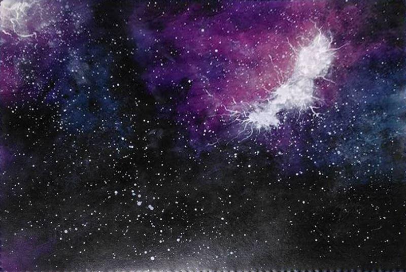 手工染繪銀河雲彩