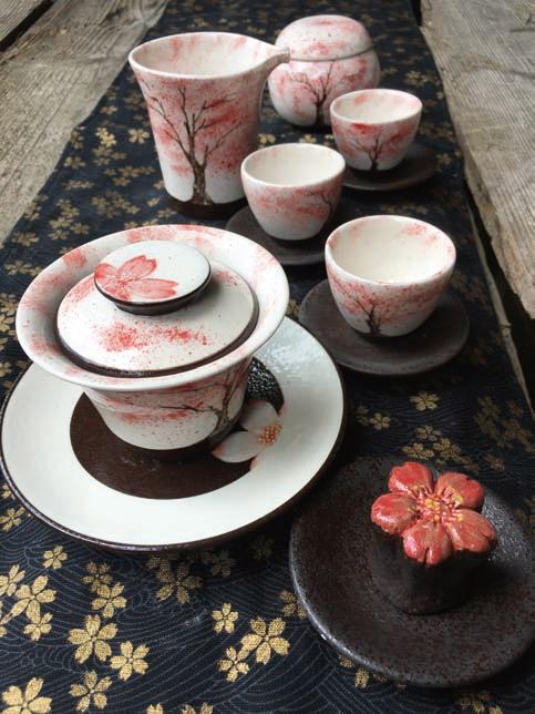 Sakura-Tea Set(Chao Family Kiln Studio)