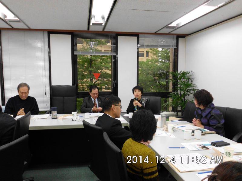 103年度第二場次專家學者諮詢會議-蒙藏委員會娥舟處長答覆說明(後排右一)