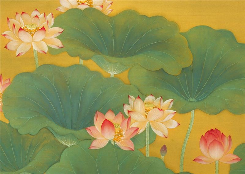 Lin Yu-shan〈Lotus Pond〉Detail