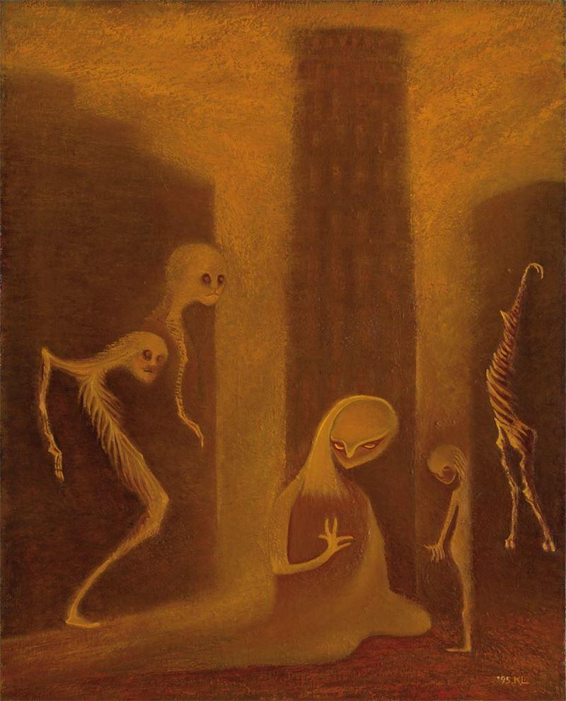 林加言〈都會一隅〉1995 油彩、畫布 91×72.5 cm