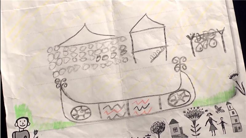 在小朋友繪製的信件中,呈現了對達悟族傳統文化的認識,也透露了對於傳統文化保存的關切。