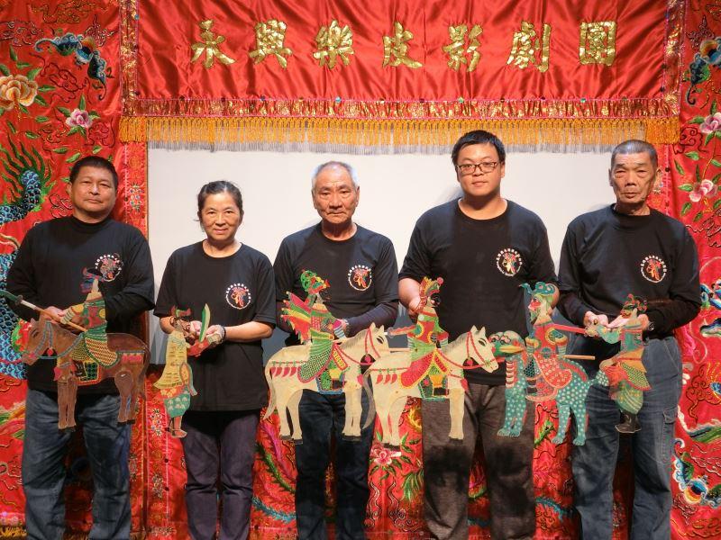 永興樂皮影劇團109年在國立傳統藝術中心進行演出。