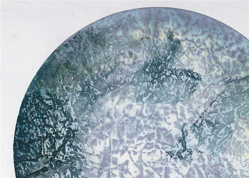 劉國松〈地球何許之3〉局部圖