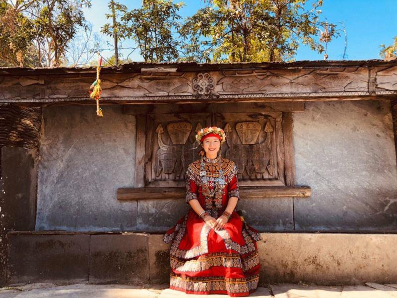 《走、來去拉勞蘭玩》排灣族音樂文化體驗主講人利芳慈,曾任拉勞蘭部落少女會會長,出生部落,成長於都市,大學時期開始慢慢摸索著回家的路(照片:利芳慈提供)