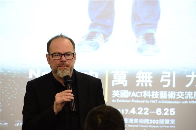 英國FACT藝術與創意科技基金會藝術總監暨執行長麥克‧斯塔布斯致詞