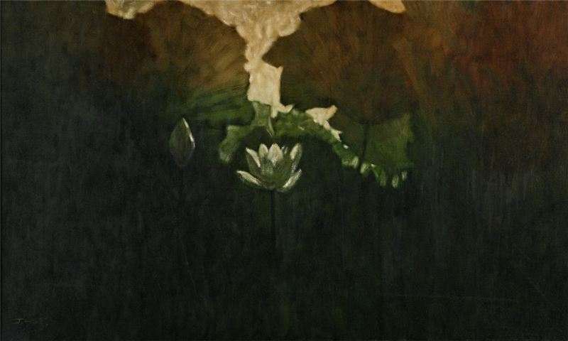 席慕蓉〈黎明〉1997 油彩、畫布 97×162.1 cm