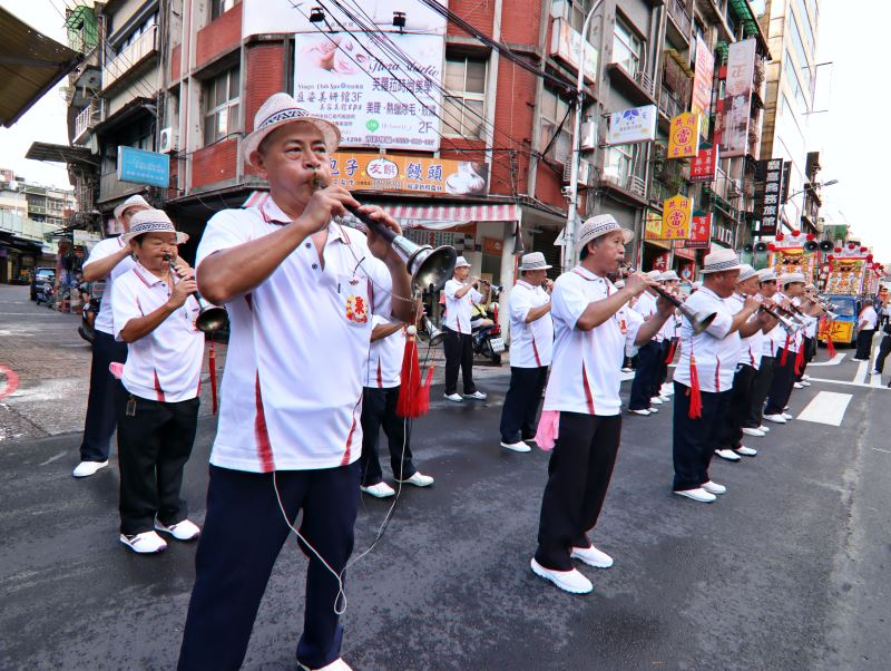 早期基隆有許多北管軒社,在宮廟祭典和遶境時,會一起出陣演奏。