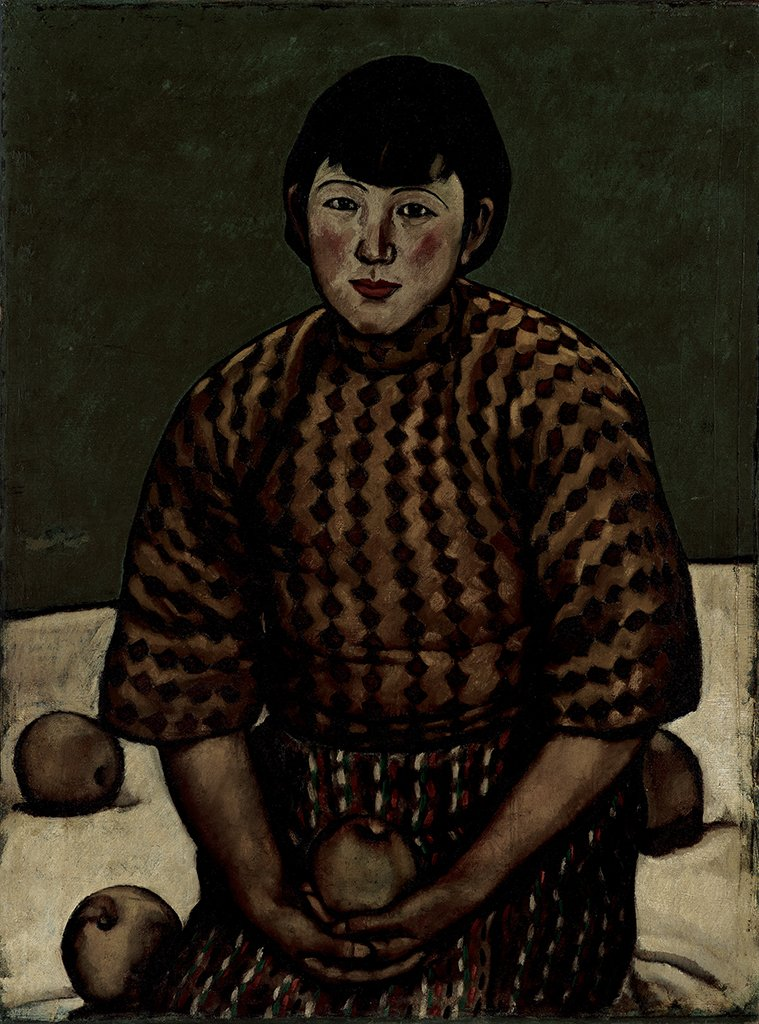 LIOU Jin-tang〈Portrait of the Artist's Wife Holding an Orange〉1929  Oil on canvas  91×67.5 cm