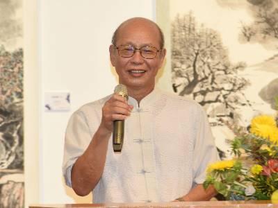 參展藝術家代表楊誠國理事長致謝詞。