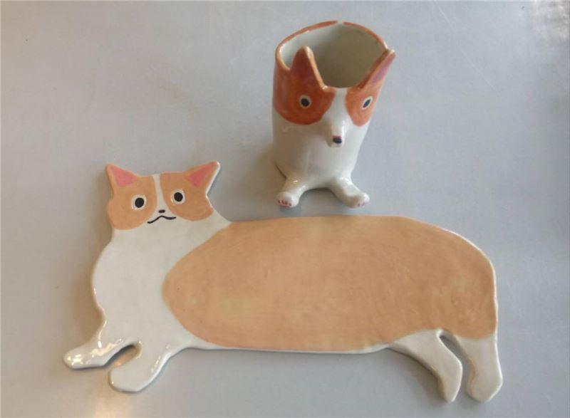旺旺犬陶盤DIY作品1