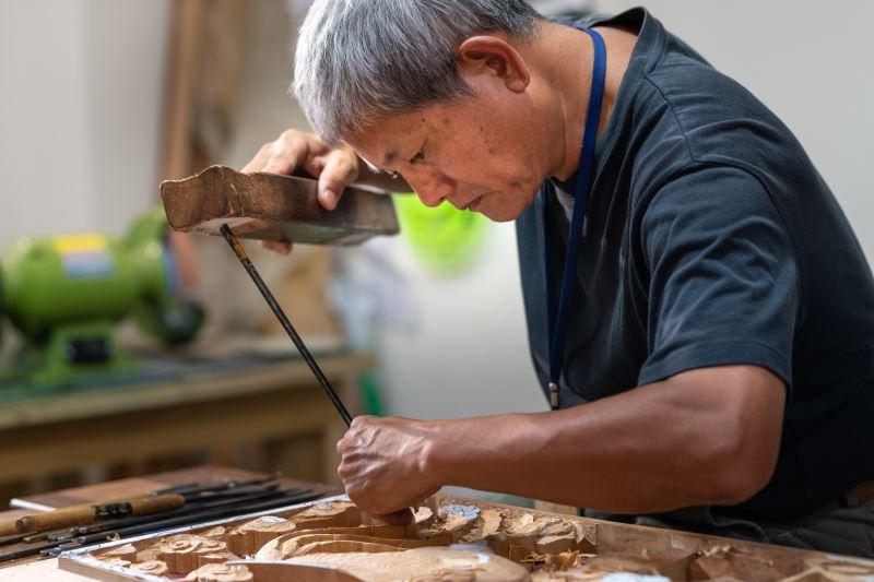 傳統木雕-吳適為