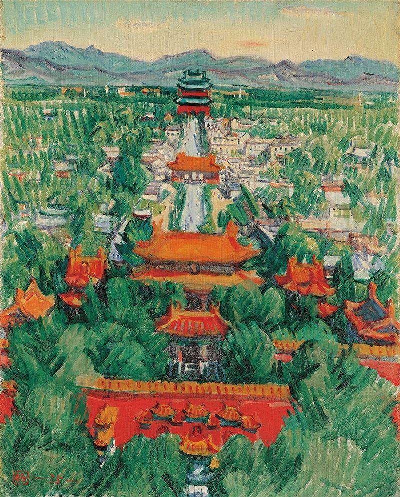 郭柏川〈故宮〉1946 油彩、畫布 91×72.5 cm