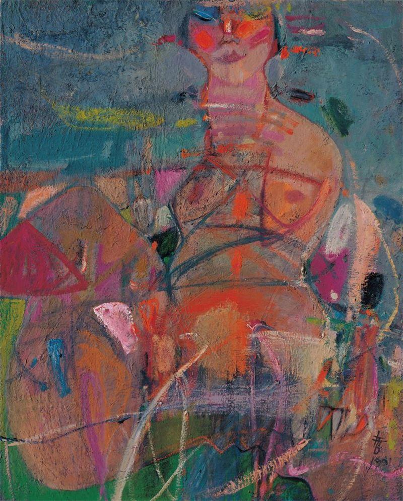 黃銘哲〈女人〉1991 油彩、畫布 91×73 cm