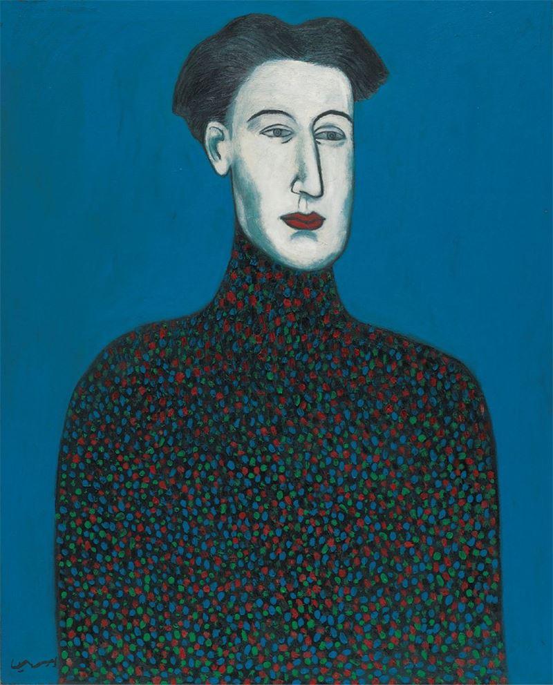 邱亞才〈美少年〉1988 油彩、畫布 162×120 cm