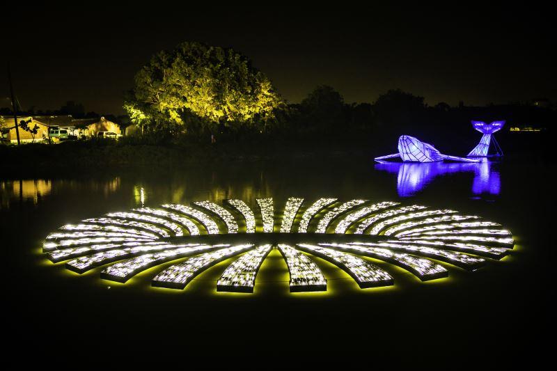 月津港燈節「水域燈區」:運用幻象-洞
