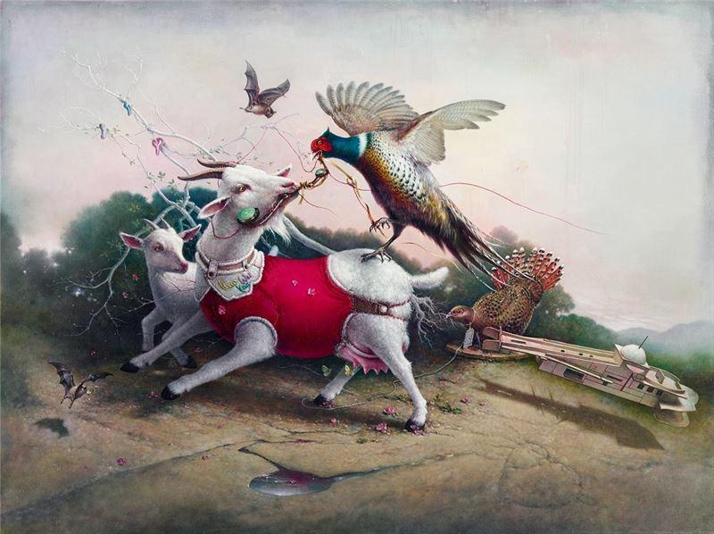郭維國〈吉祥如意〉2013 油彩、畫布 150×200 cm
