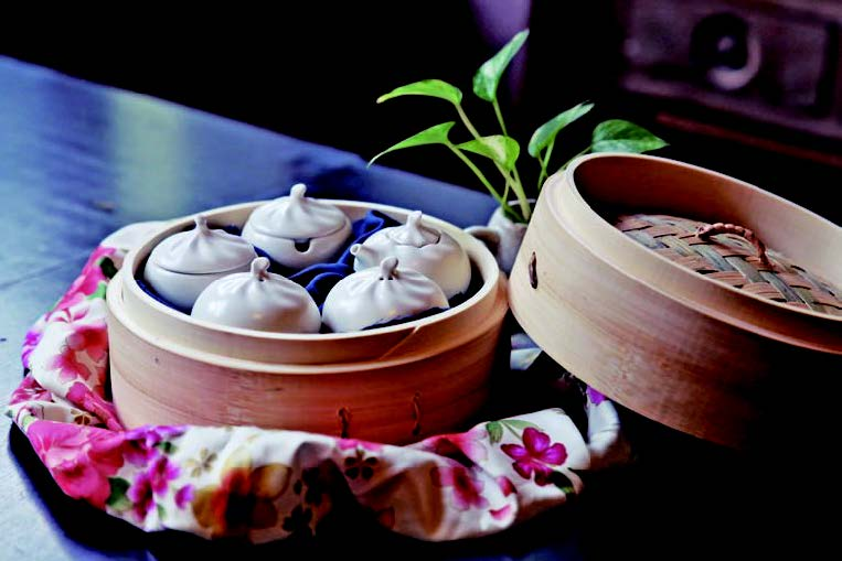Steamed Pork Dumplings-Spice Jars (Hakka-blue)
