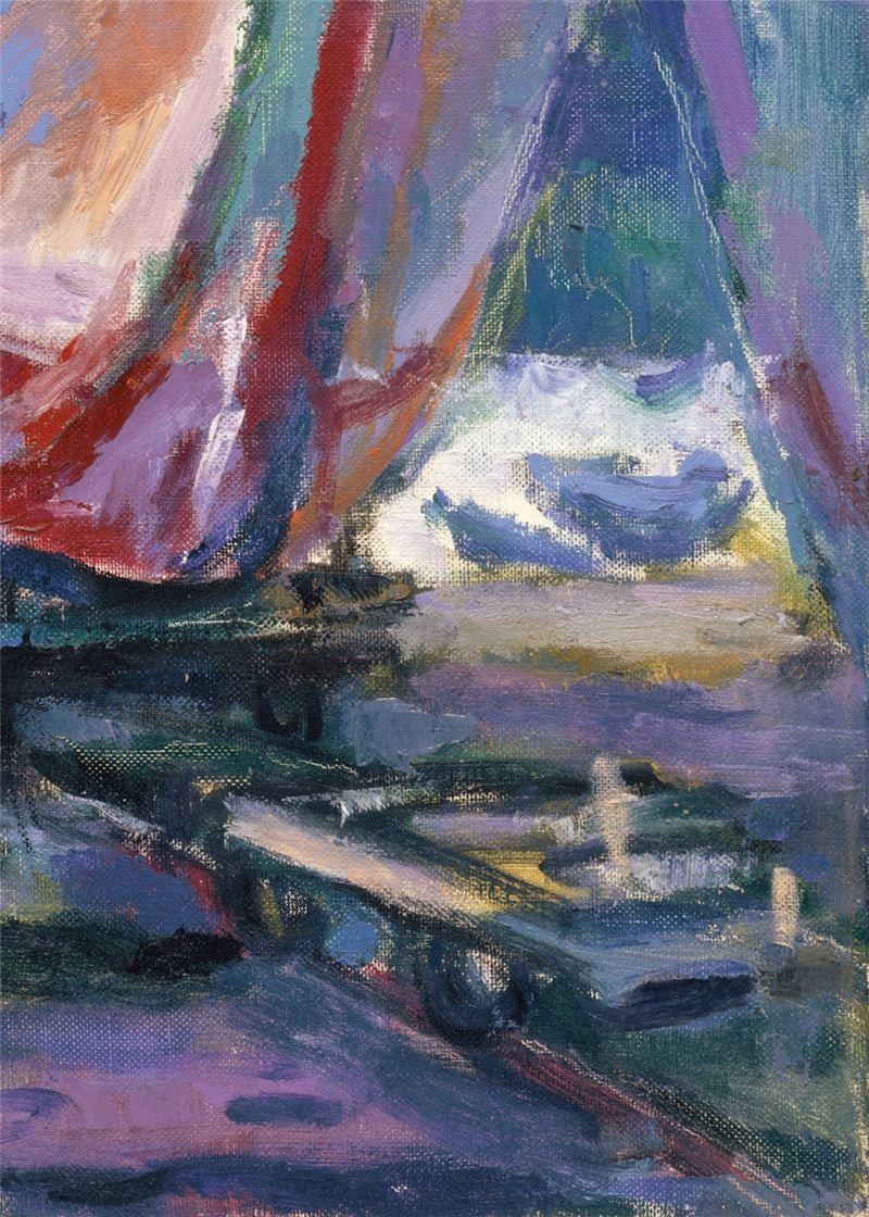 Chen Yin-huei〈Repairing the Boat〉Detail