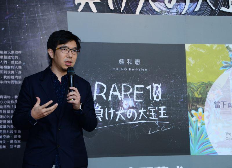 藝術家龍祈澔先生致詞