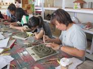 磚雕工藝基礎班-磚胚淺凸雕練習