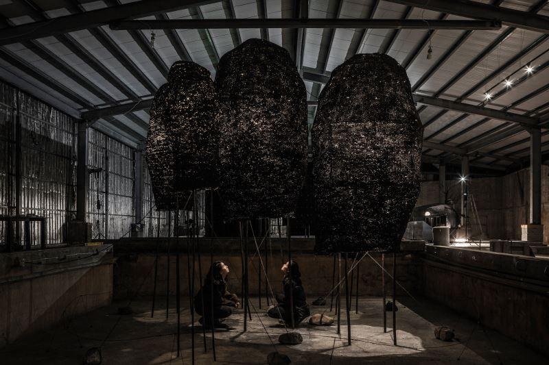 「天然修道院」展出模型(攝影:高靖捷,自然洋行提供)