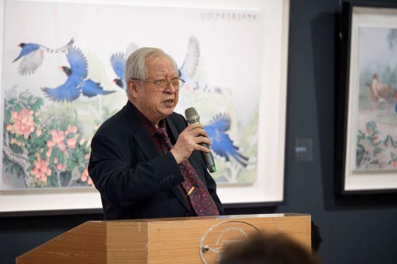 文化大學美術系歐豪年教授致詞