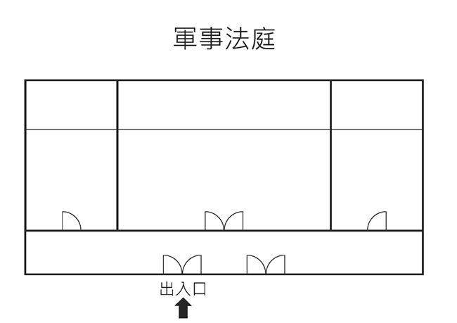 軍事法庭平面圖