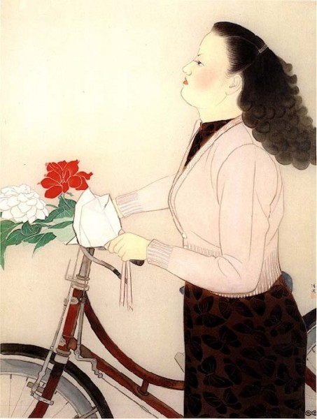 1947 – The Girl Holding a Flower / 持花少女