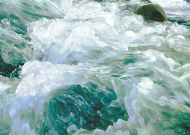 Lin Hsin-yueh 〈Gushing Waves〉Detail