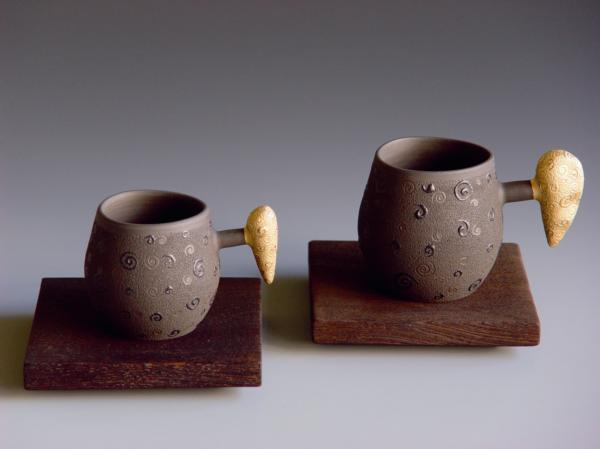 金彩飾紋咖啡杯
