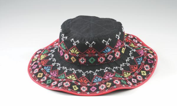 手工刺繡大圓帽