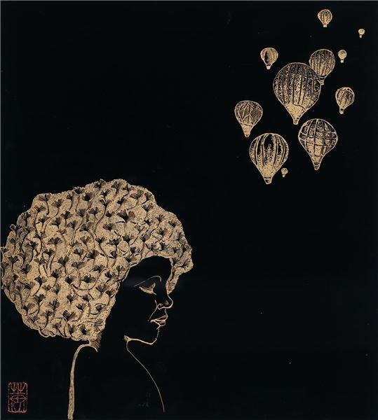 邱乃蕙作品「愛與感謝」圖