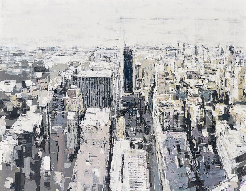 蕭慶知,〈城市印象.紐約〉,2017,壓克力顏料、畫布,143×177cm_107年全國美展油畫類金牌獎